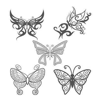 Lovely Black Butterfly Design Water Transfer Temporary Tattoo(fake Tattoo) Stickers NO.11069