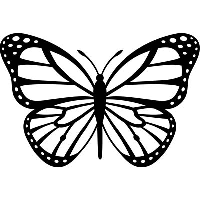 Nice Black and Yellow Butterfly Design Water Transfer Temporary Tattoo(fake Tattoo) Stickers NO.11073