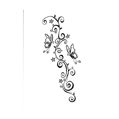 Three Butterflies Flying Design Water Transfer Temporary Tattoo(fake Tattoo) Stickers NO.11080