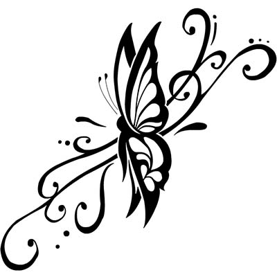 Women Butterfly Design Water Transfer Temporary Tattoo(fake Tattoo) Stickers NO.11081