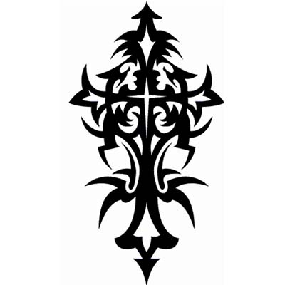 Amazing Tribal Cross Design Water Transfer Temporary Tattoo(fake Tattoo) Stickers NO.11116