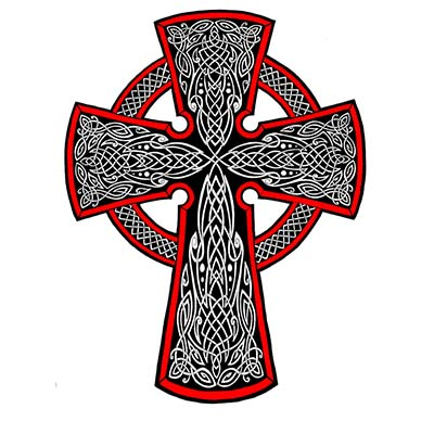 Celtic cross Design Water Transfer Temporary Tattoo(fake Tattoo) Stickers NO.11104
