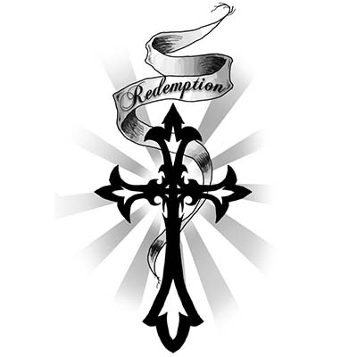 Cross Design Water Transfer Temporary Tattoo(fake Tattoo) Stickers NO.11097