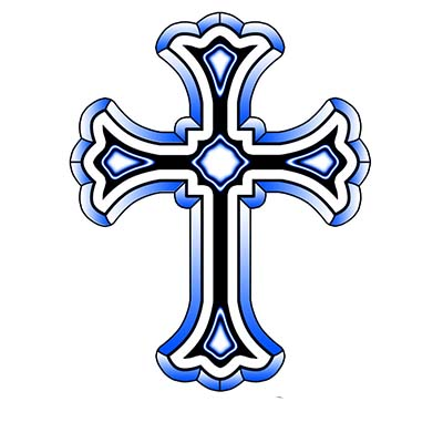 Holy cross Design Water Transfer Temporary Tattoo(fake Tattoo) Stickers NO.11109
