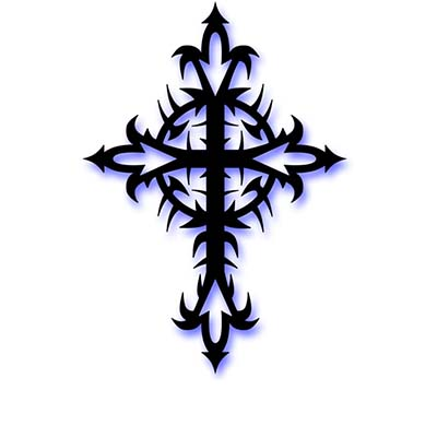 Tribal cross Design Water Transfer Temporary Tattoo(fake Tattoo) Stickers NO.11118