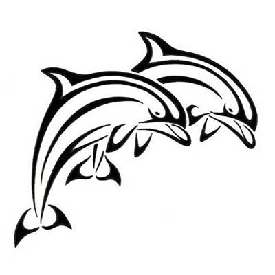 A Dolphin Drawing Design Water Transfer Temporary Tattoo(fake Tattoo) Stickers NO.11119