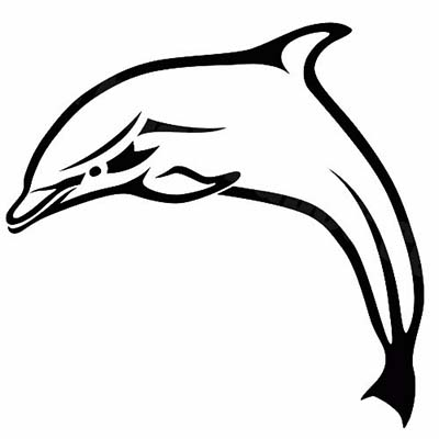 Dolphin Stencil Design Water Transfer Temporary Tattoo(fake Tattoo) Stickers NO.11127
