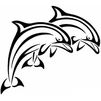 Leaping Dolphin Design Water Transfer Temporary Tattoo(fake Tattoo) Stickers NO.11130
