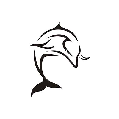 Tribal Dolphins Design Water Transfer Temporary Tattoo(fake Tattoo) Stickers NO.11133