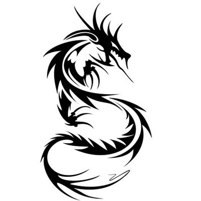 3 Tribal Dragon Designs Design Water Transfer Temporary Tattoo(fake Tattoo) Stickers NO.11134