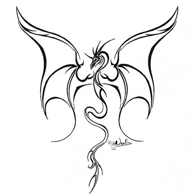 Angry Dragon Sample Design Water Transfer Temporary Tattoo(fake Tattoo) Stickers NO.11135