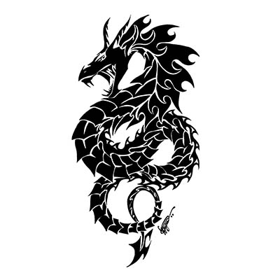 Beautiful Dragon on Body Design Water Transfer Temporary Tattoo(fake Tattoo) Stickers NO.11137
