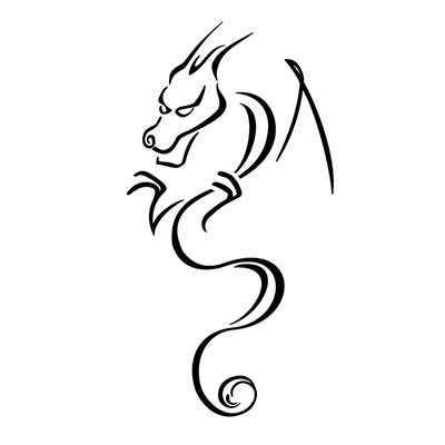 Dragon Design Water Transfer Temporary Tattoo(fake Tattoo) Stickers NO.11145