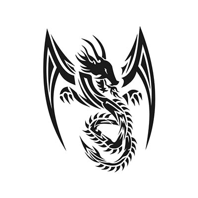 Tribal Dragon Art Design Water Transfer Temporary Tattoo(fake Tattoo) Stickers NO.11151