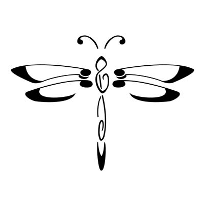 Black Outline Dragonfly Design Water Transfer Temporary Tattoo(fake Tattoo) Stickers NO.11154