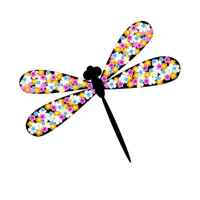 Dragonfly Design Water Transfer Temporary Tattoo(fake Tattoo) Stickers NO.11157