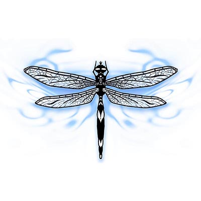 Dragonfly Poster Design Water Transfer Temporary Tattoo(fake Tattoo) Stickers NO.11159