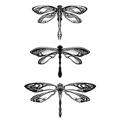 Elegant Dragonfly Design Water Transfer Temporary Tattoo(fake Tattoo) Stickers NO.11160