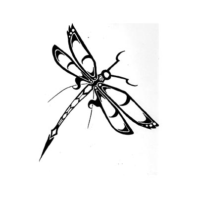 Funny Dragonfly Design Water Transfer Temporary Tattoo(fake Tattoo) Stickers NO.11161