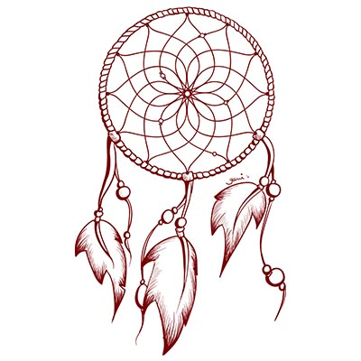3 Dream Catcher Designs Water Transfer Temporary Tattoo(fake Tattoo) Stickers NO.11165