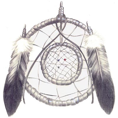 Again Dream Catcher Drawing Design Water Transfer Temporary Tattoo(fake Tattoo) Stickers NO.11166