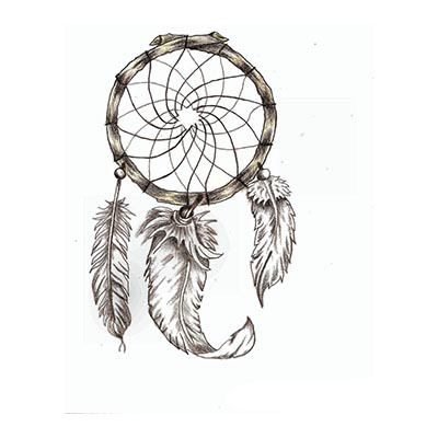Amazing Wolf Dream Catcher Design Water Transfer Temporary Tattoo(fake Tattoo) Stickers NO.11167