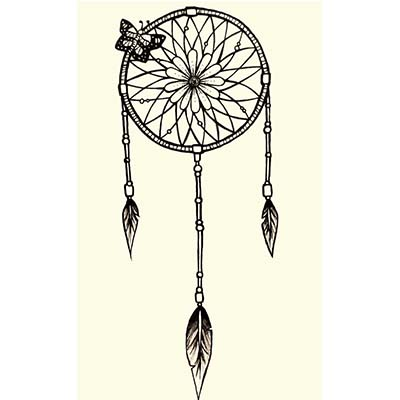 Butterfly Dream Catcher Design Water Transfer Temporary Tattoo(fake Tattoo) Stickers NO.11170