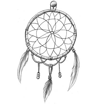 Colorful Dream Catcher Design For Girls Water Transfer Temporary Tattoo(fake Tattoo) Stickers NO.11171