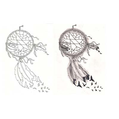 Dream Catcher Design For Guys Water Transfer Temporary Tattoo(fake Tattoo) Stickers NO.11174