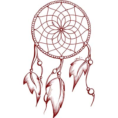 Dream Catcher Drawing Design Water Transfer Temporary Tattoo(fake Tattoo) Stickers NO.11175