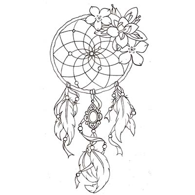 Dream Catcher On Right Leg For Girls Design Water Transfer Temporary Tattoo(fake Tattoo) Stickers NO.11176