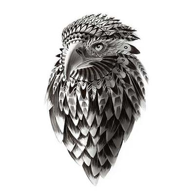 Eagle Design Water Transfer Temporary Tattoo(fake Tattoo) Stickers NO.11180