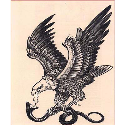 Eagle Design Water Transfer Temporary Tattoo(fake Tattoo) Stickers NO.11187