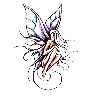 Fairy Design Water Transfer Temporary Tattoo(fake Tattoo) Stickers NO.11194