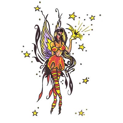 Fairy moon design Water Transfer Temporary Tattoo(fake Tattoo) Stickers NO.11191