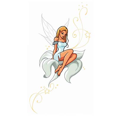 Flower fairy Design Water Transfer Temporary Tattoo(fake Tattoo) Stickers NO.11197
