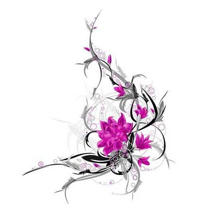 Amazing Flowers Design Water Transfer Temporary Tattoo(fake Tattoo) Stickers NO.11201