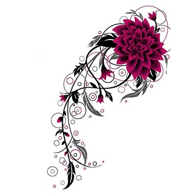 Latest Flower Design Water Transfer Temporary Tattoo(fake Tattoo) Stickers NO.11215