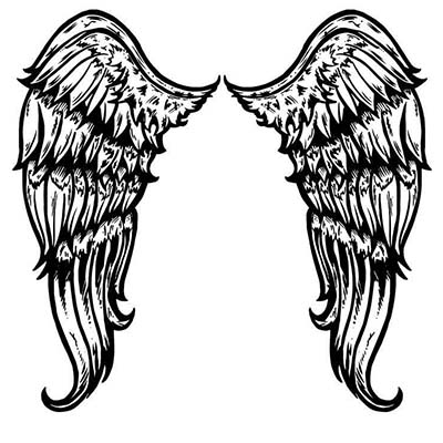 Angel Wings Design Water Transfer Temporary Tattoo(fake Tattoo) Stickers NO.11229