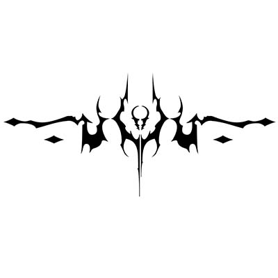 Gothic lower back Design Water Transfer Temporary Tattoo(fake Tattoo) Stickers NO.11240