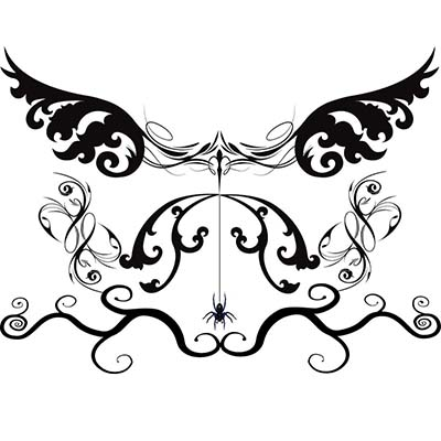 Gothic tribal Design Water Transfer Temporary Tattoo(fake Tattoo) Stickers NO.11244