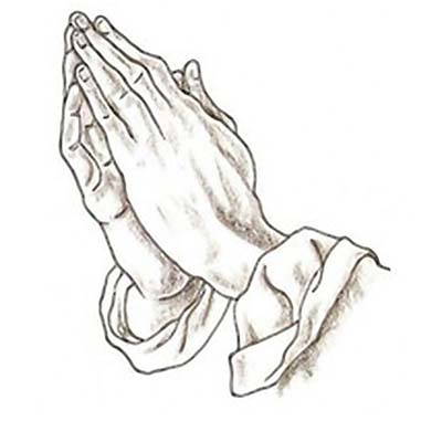 Praying hands Design Water Transfer Temporary Tattoo(fake Tattoo) Stickers NO.11251