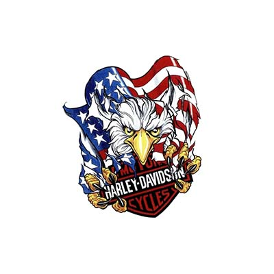 Eagle Ripped American Flag Harley Davidson Design Water Transfer Temporary Tattoo(fake Tattoo) Stickers NO.11260