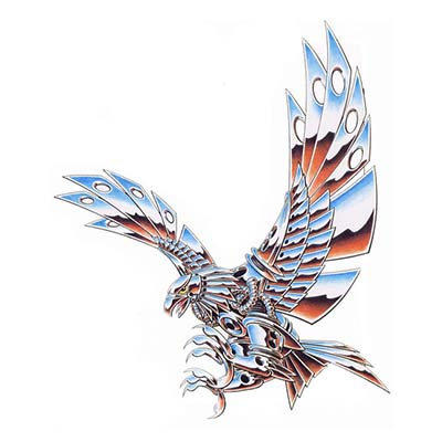Harley Davidson Chrome Eagle Design Water Transfer Temporary Tattoo(fake Tattoo) Stickers NO.11259