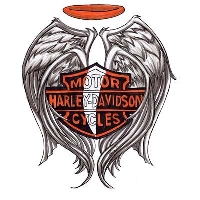 Harley Davidson Design Water Transfer Temporary Tattoo(fake Tattoo) Stickers NO.11267