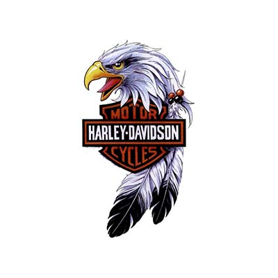 Harley davidson eagle designs Water Transfer Temporary Tattoo(fake Tattoo) Stickers NO.11261