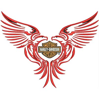 Harley davidson logo Design Water Transfer Temporary Tattoo(fake Tattoo) Stickers NO.11264