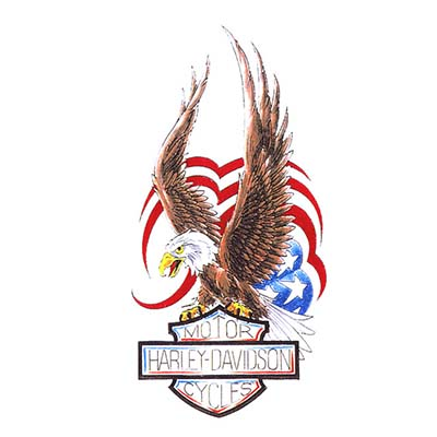 Harley eagle Design Water Transfer Temporary Tattoo(fake Tattoo) Stickers NO.11265
