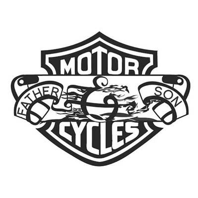 Memorial harley davidson design Water Transfer Temporary Tattoo(fake Tattoo) Stickers NO.11268