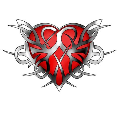 Celtic heart Design Water Transfer Temporary Tattoo(fake Tattoo) Stickers NO.11277